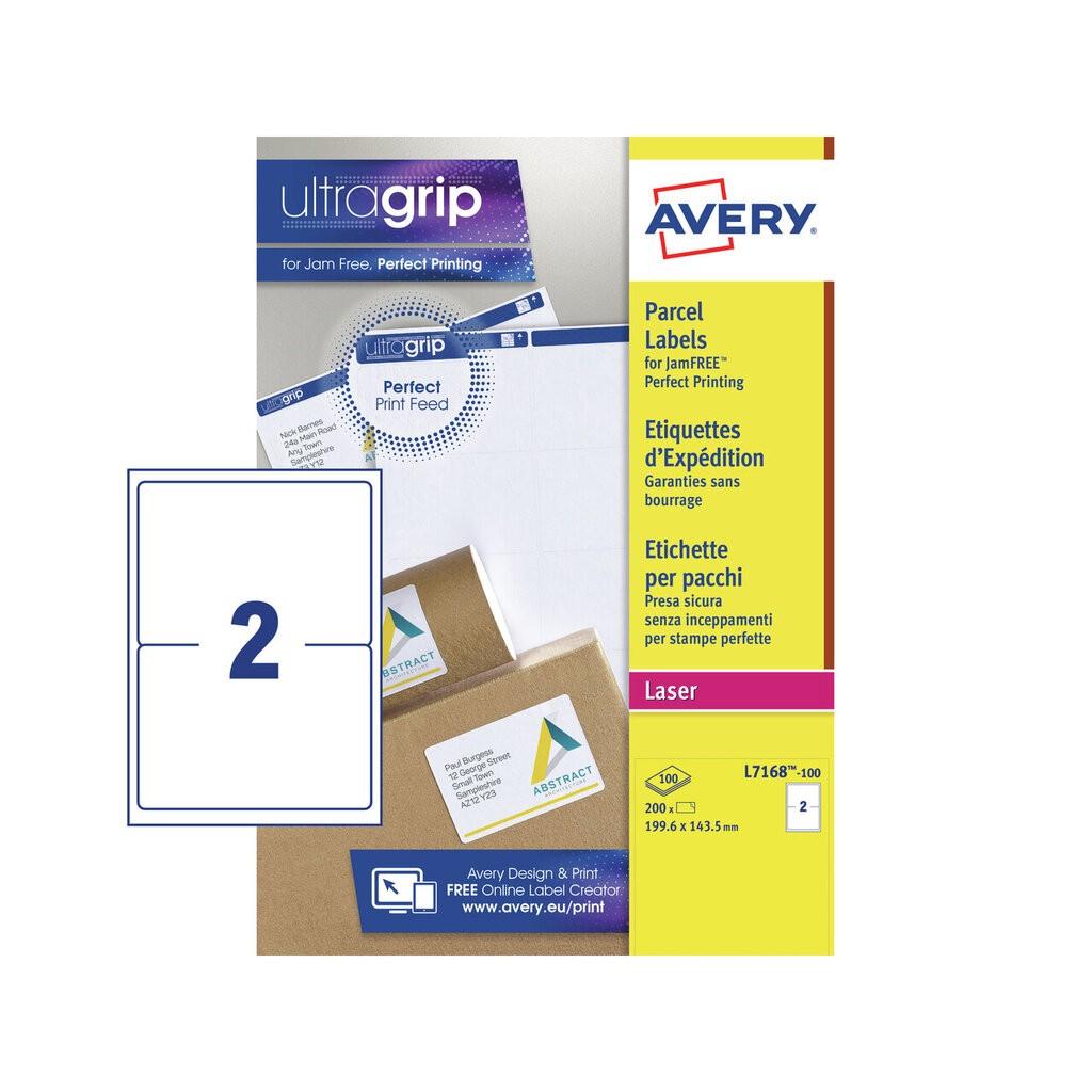 parcel labels l7168 100