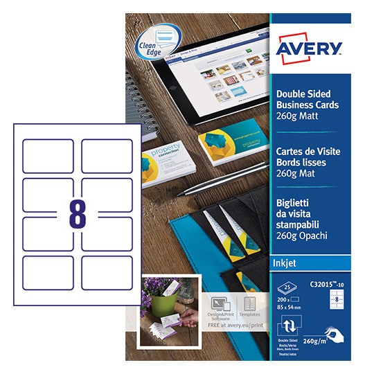 Business cards c32015 10 avery reheart Choice Image