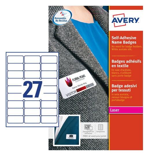 Self adhesive name badges l4784 20 avery pronofoot35fo Choice Image
