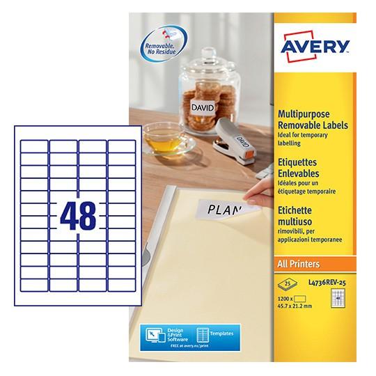 Mini Multipurpose Labels L4736rev 25 Avery