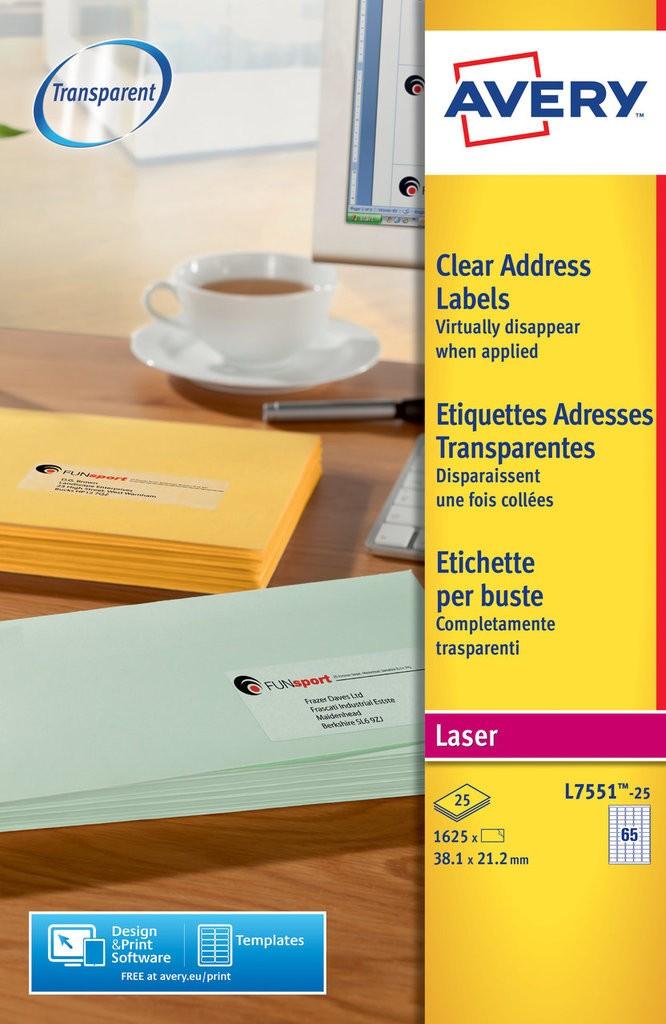 Address Labels L7551 25 Avery