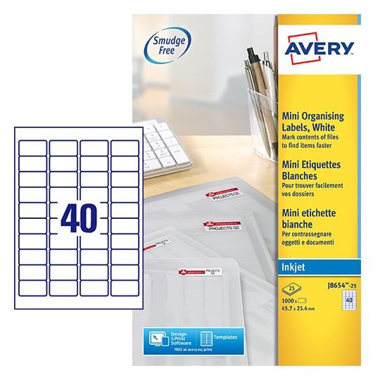 Mini Multipurpose Labels J8654 25 Avery
