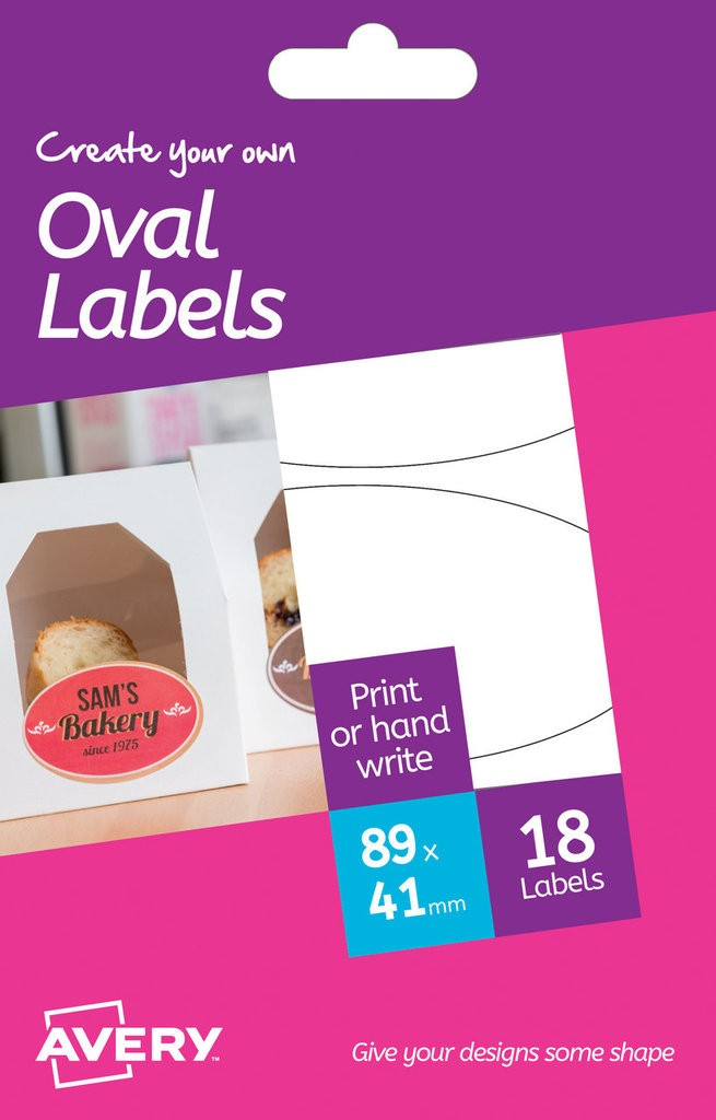 Oval Labels Hrr03 Avery