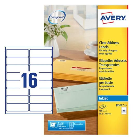 Address Labels J8562 25 Avery