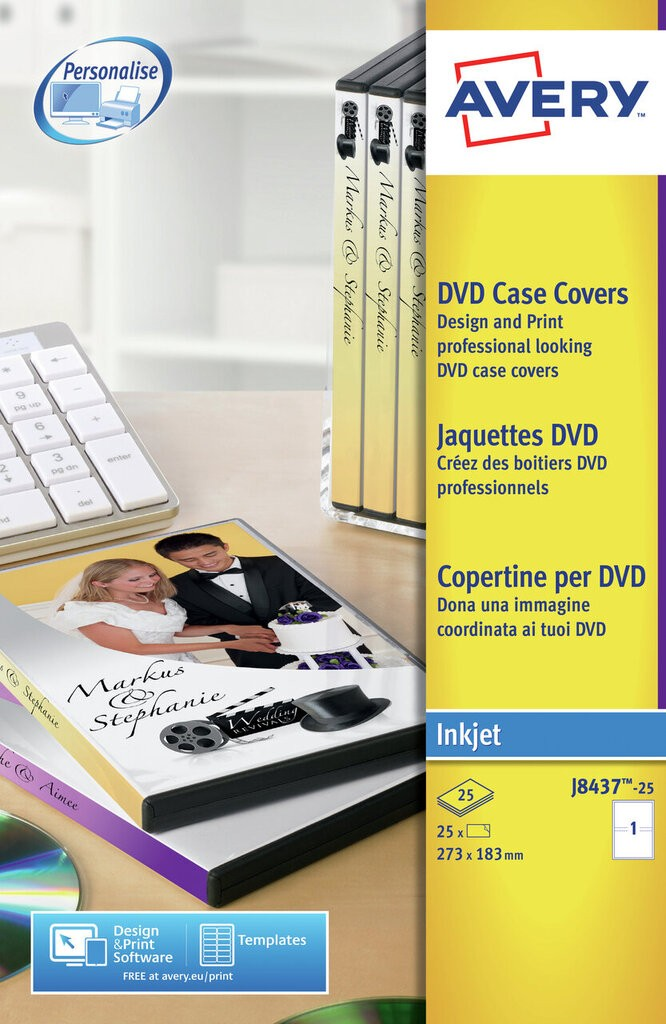 Dvd Case Inserts J8437 25 Avery