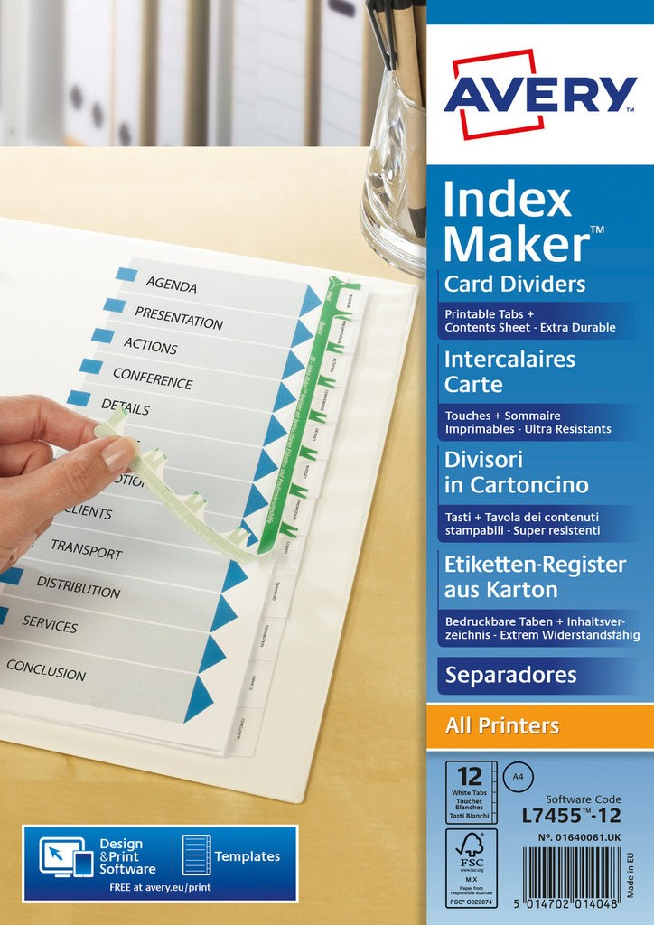Index Maker Dividers 01640061 Avery