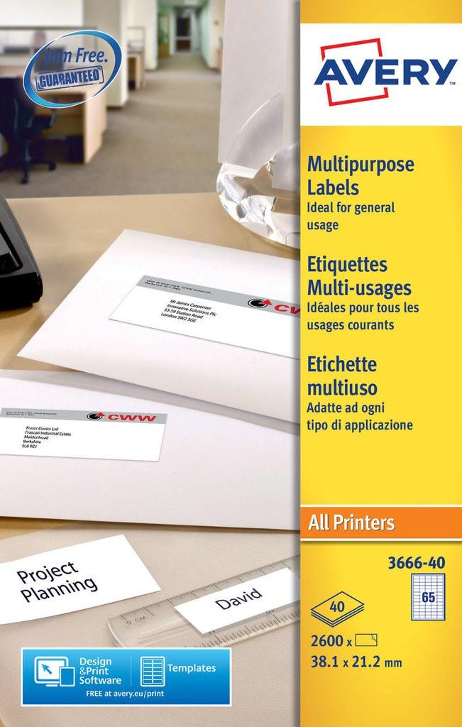 Multipurpose Labels 3666 40 Avery