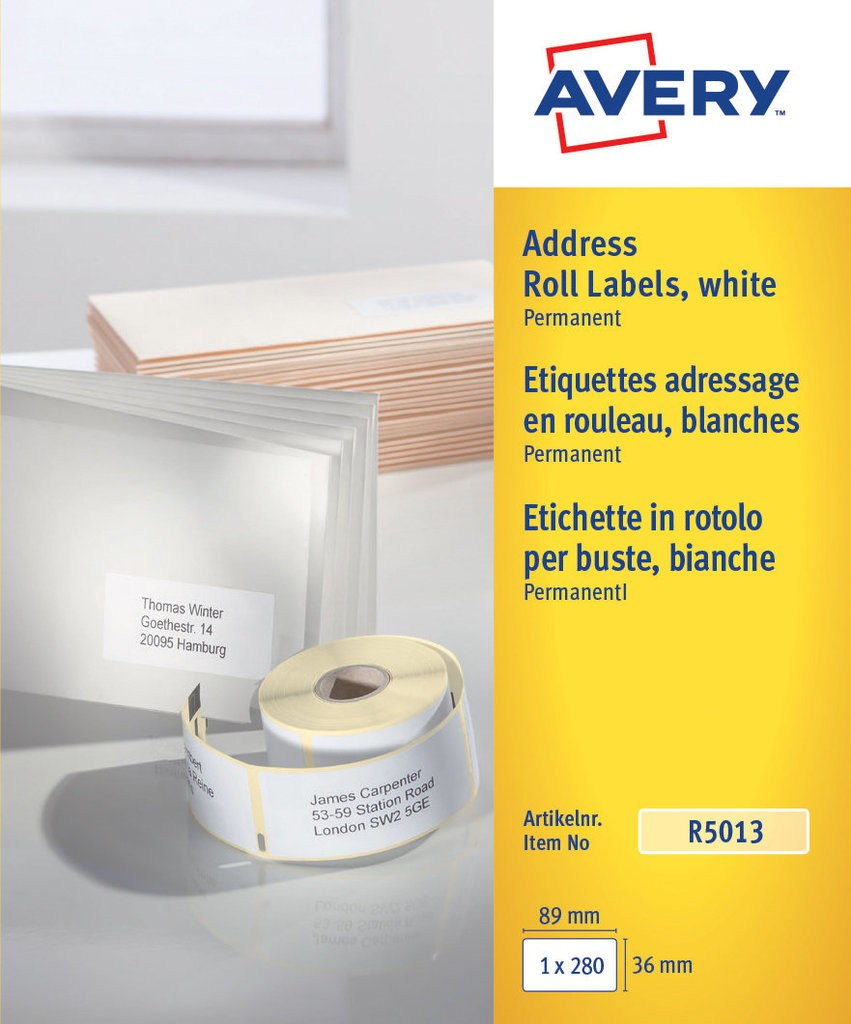 Personal Printer Address Labels | R5013 | Avery