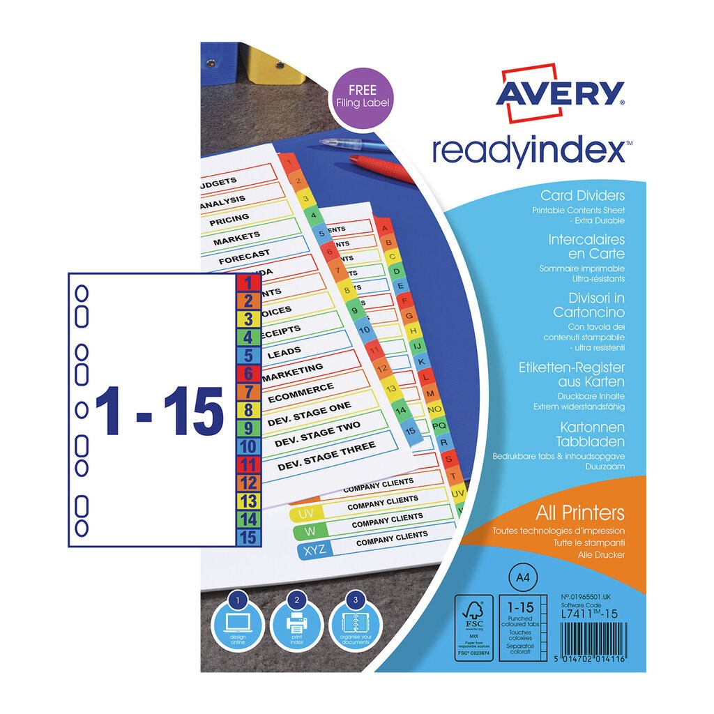 Ready Index Dividers 01965501 Avery