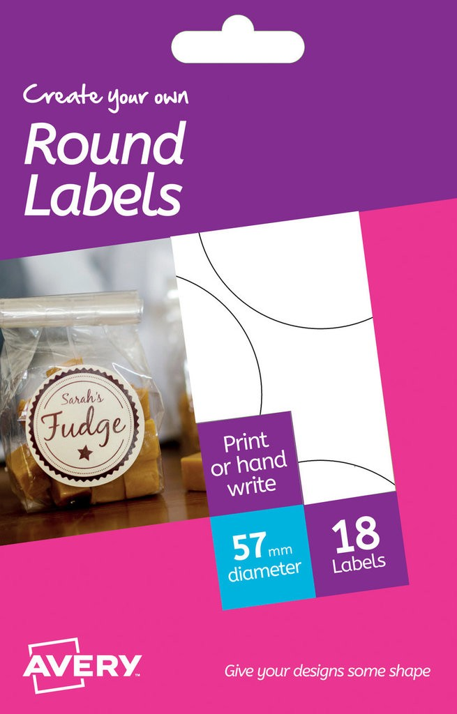 Round Labels Hrr02 Avery