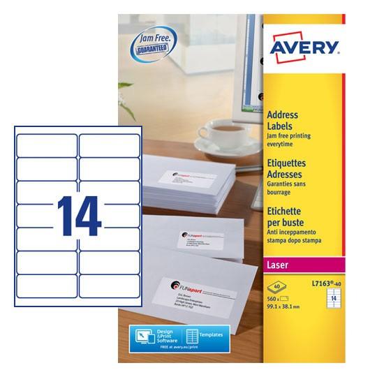 Address Labels L7163 40 Avery