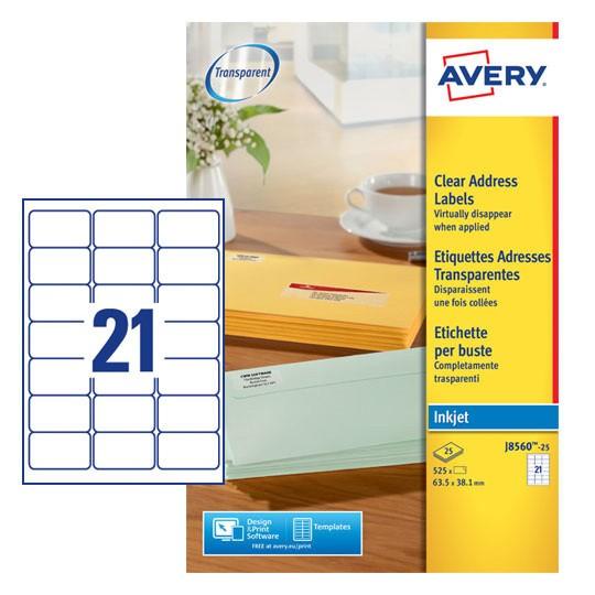 Address Labels J8560 25 Avery