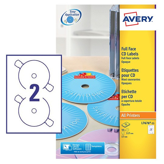 cd labels l7676 25 avery