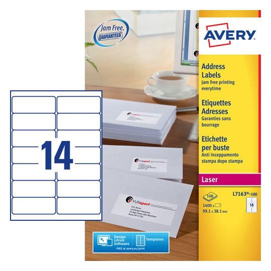 Address Labels L7163 100 Avery
