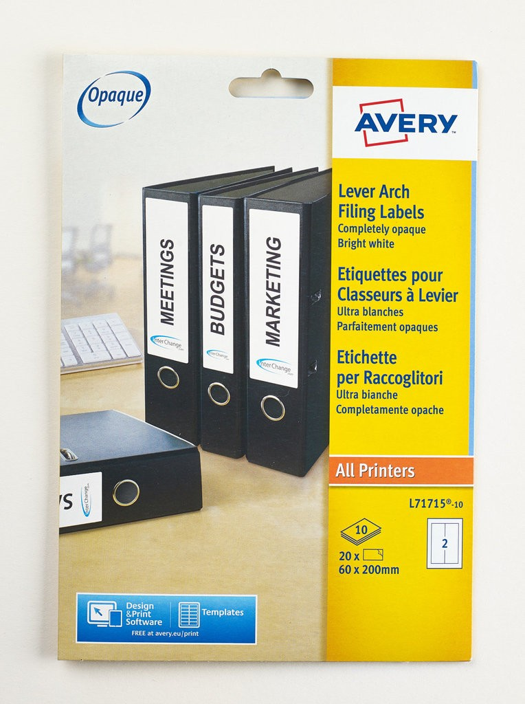 Filing Labels L71715 10 Avery