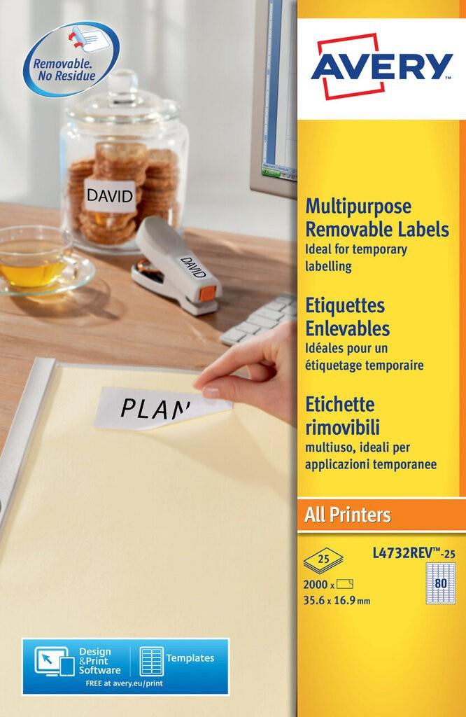 Mini Multipurpose Labels L4732rev 25 Avery