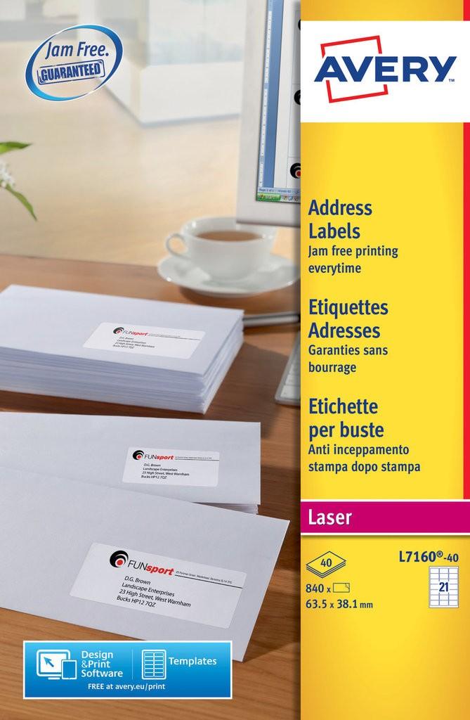 Address Labels L7160 40 Avery