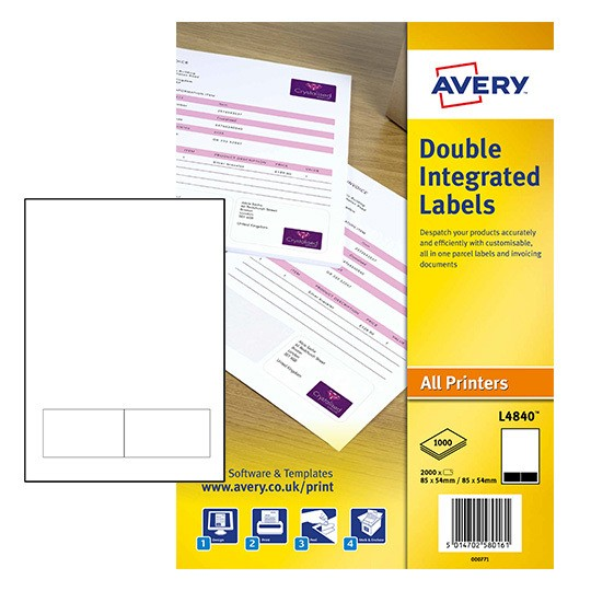 Integrated Labels L Avery - Integrated label invoice paper