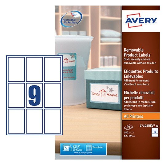 rectangle product labels l7108rev 20 avery