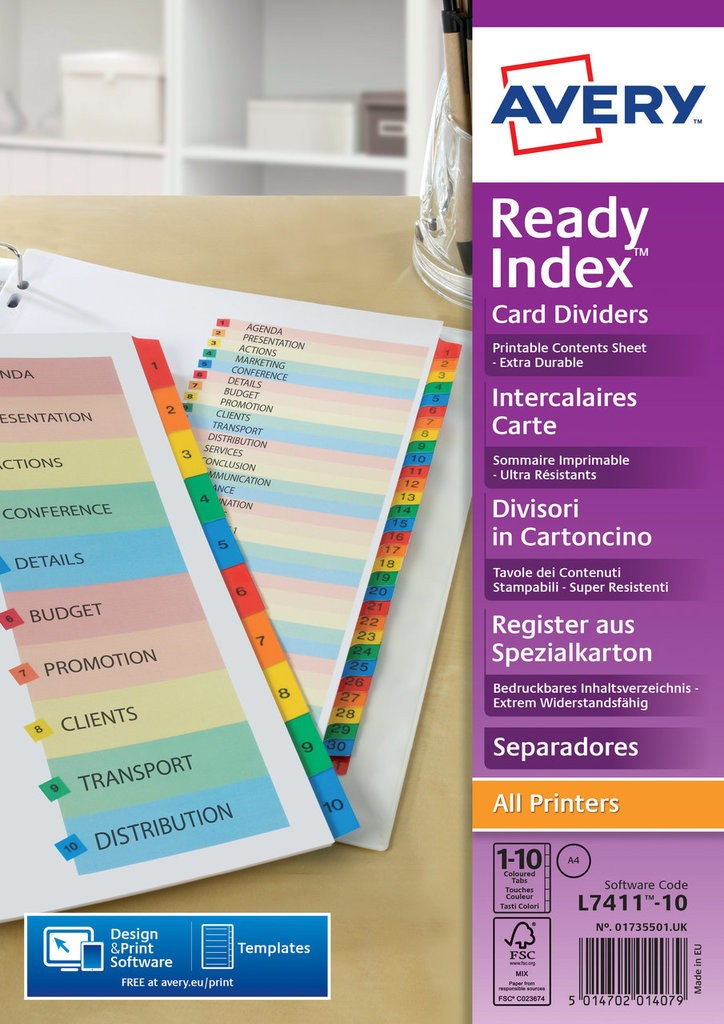 Ready Index Dividers 01735501 Avery