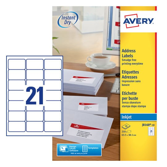 avery templates and software - address labels j8160 10 avery