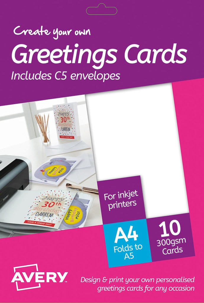 Greeting cards md2001 avery greeting cards 148 x 210 mm inkjet m4hsunfo