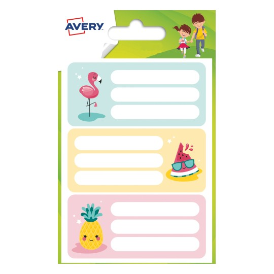 Avery Tropical School Labels