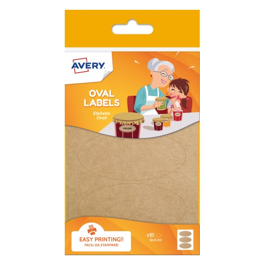 Avery Oval Kraft Labels