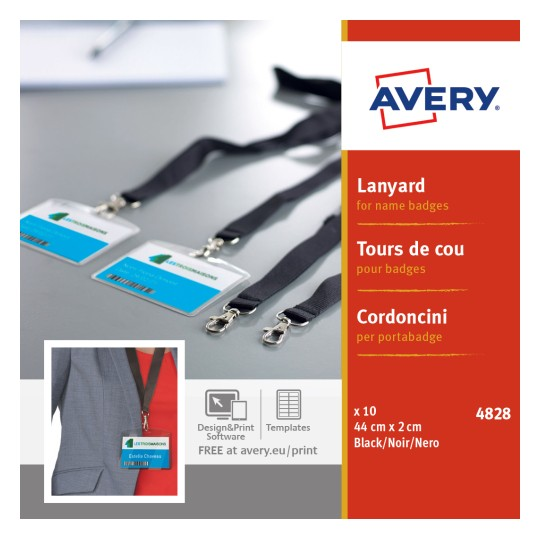 Avery 4828 Lanyards for Name Badges