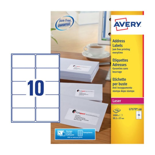 Address Labels L7173 100 Avery