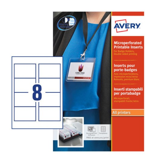 Name Badge Inserts | L7418-25 | Avery