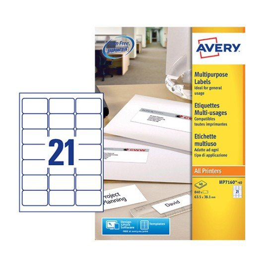 Multipurpose labels mp7160 40 avery for Avery templates and software