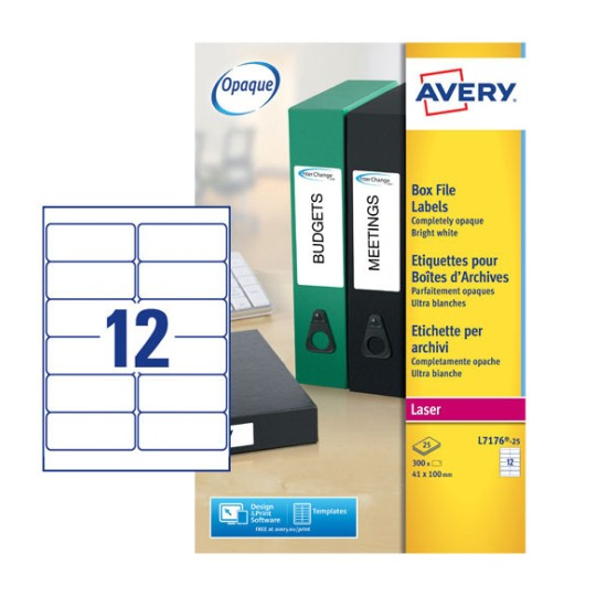 Filing Labels L7176-25 Content: 300 Labels / 25 Sheet