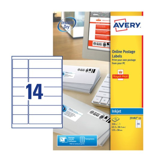 Postage Labels J5102 25 Avery