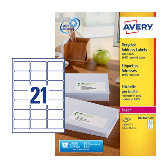 Address Labels L7162 100 Avery