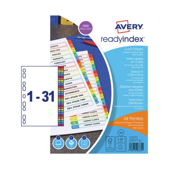 Ready Index™ Dividers 02004501