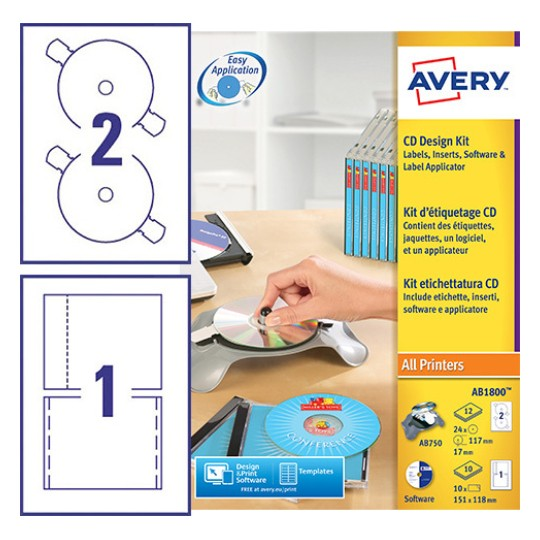 Cd Labels J8676 25 Avery