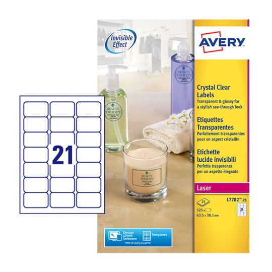Crystal Clear labels L7782-25