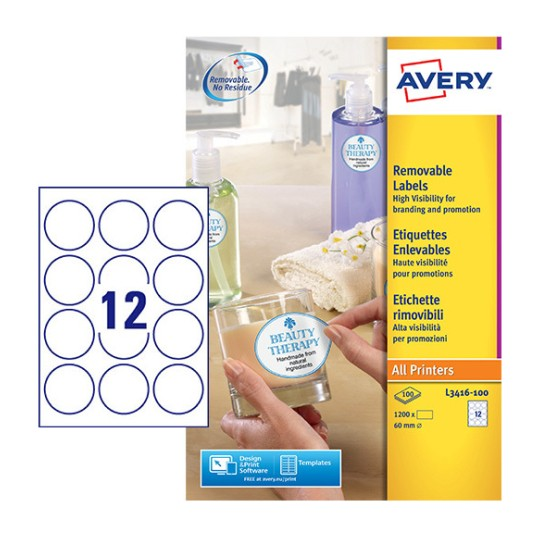 Round Product Labels | L3416 100 | Avery