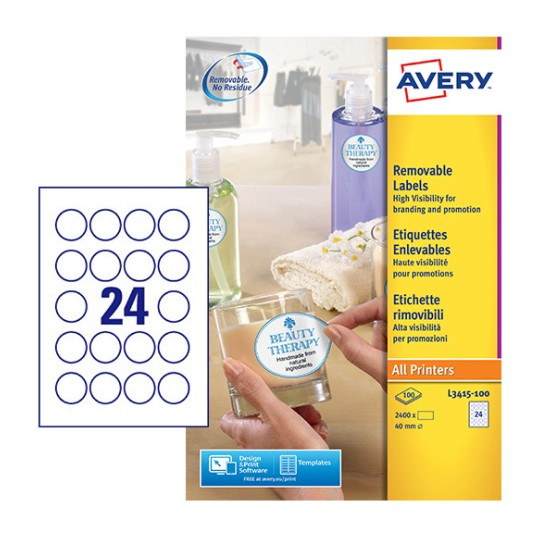 round product labels l3415 100 avery