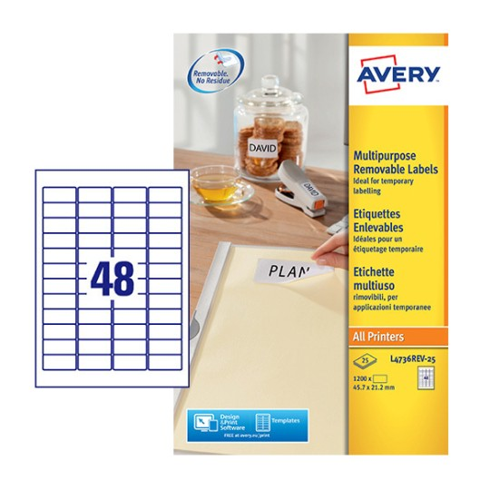 Mini Multipurpose Labels L4736REV-25
