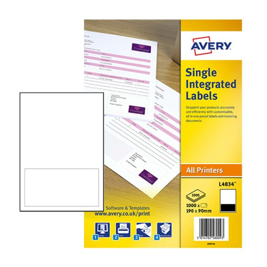 Integrated labels l4834 avery for Avery templates and software