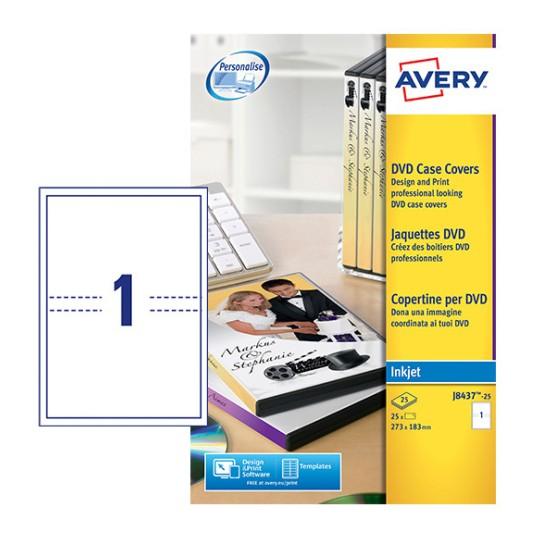 Dvd Case Inserts J8437 25 Avery