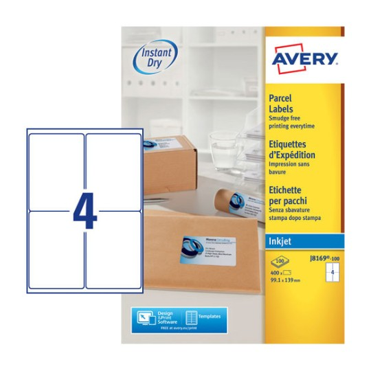 Parcel Labels J8169 100 Avery