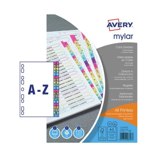 Mylar Dividers   Avery