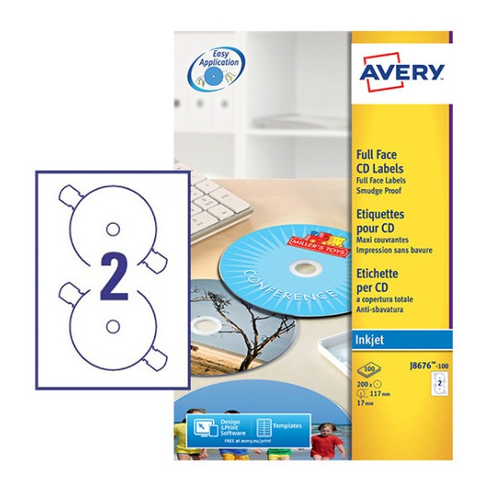 cd labels j8676 100 avery