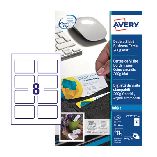 Business cards c32024 10 avery reheart Image collections