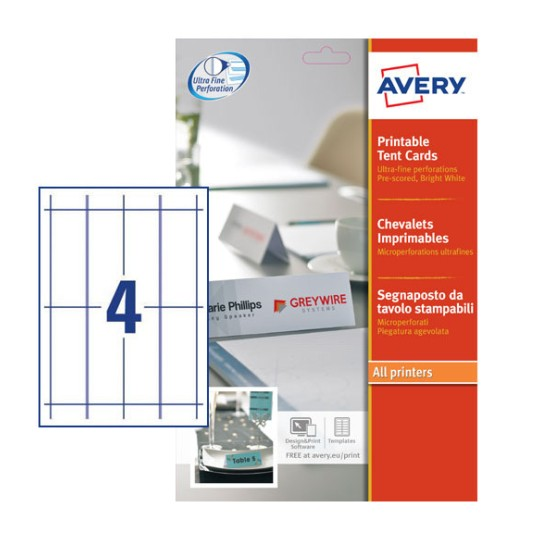 Tent Cards | L4794-10 | Avery