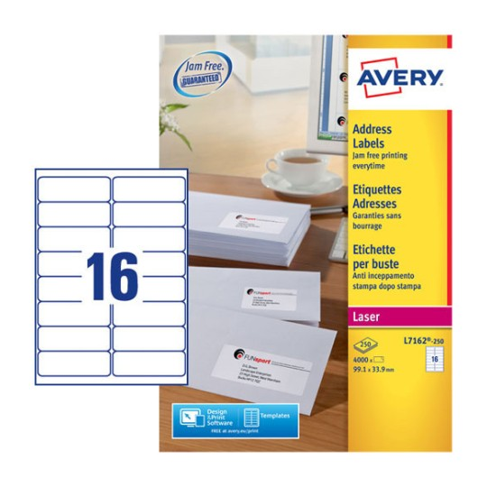 Address labels l7162 250 avery for Avery templates and software