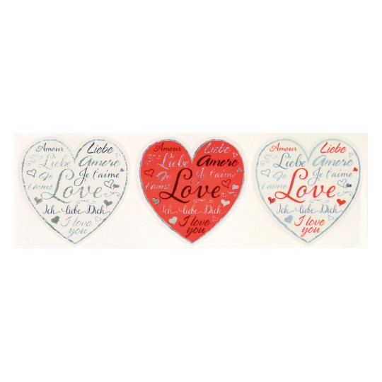 Love Heart ZDesign Stickers 56813 38 mm